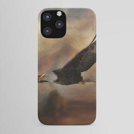 Eagle Flying Free iPhone Case