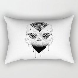 Enigmatic Skull Rectangular Pillow