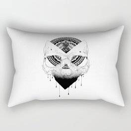 Enigmatic Skull Rectangular Pillow