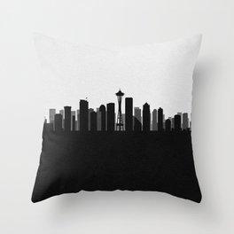 City Skylines: Seattle Throw Pillow