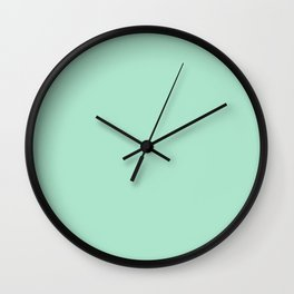 MINTY GREEN Wall Clock