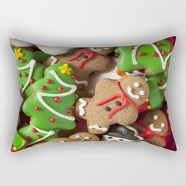 Delicious Christmas Cookies Rectangular Pillow
