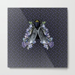 The flowers and the fly Metal Print