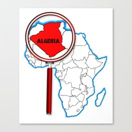 Algeria Under The Magnifying Glass Canvas Print