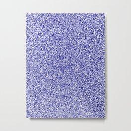 Spacey Melange - White and Dark Blue Metal Print