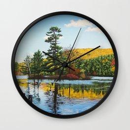 Ivy Island in Autumn Wall Clock
