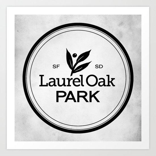 Laurel Oak Park Art Print