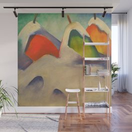 """Franz Marc """"Haystacks in the Snow"""" Wall Mural"""