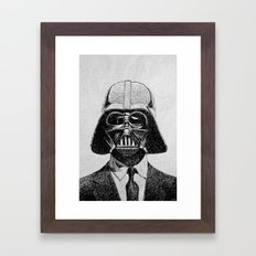 Darth Vader portrait Framed Art Print