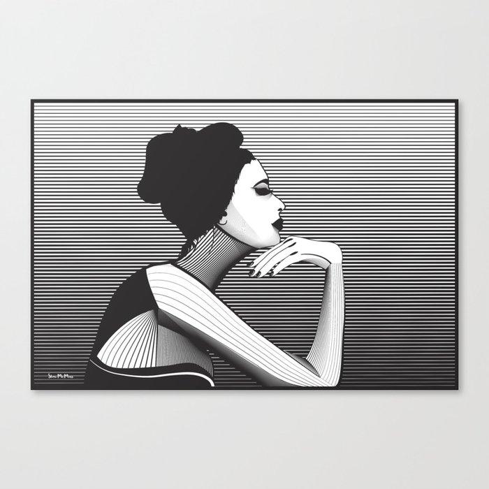 Black and White Female Canvas Print