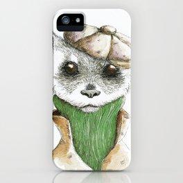 FRANKIE FERRET IN GREEN iPhone Case
