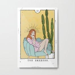 The Empress Tarot Metal Print