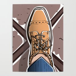 Selfie with Mens Formal Shoes Poster