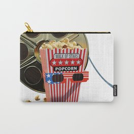 3D Movie Reel and Buttered Popcorn Carry-All Pouch