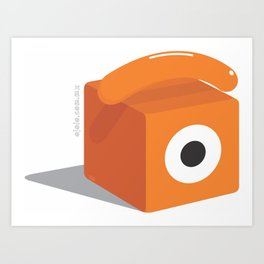 cubical glance Art Print