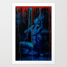Blue Water Art Print