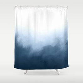 Stone Blue Shower Curtain