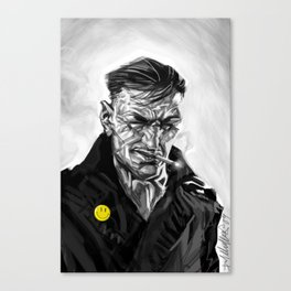 the watched man (ipod touch fingerpainted) Canvas Print