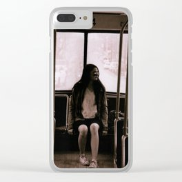 Empty Street Car Clear iPhone Case