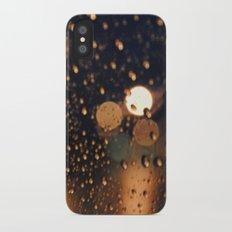 rain bokeh Slim Case iPhone X