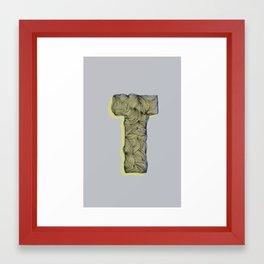 """""""T"""" Doodle Framed Art Print"""