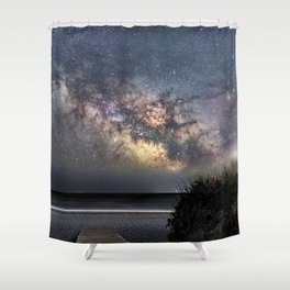 Sea of Stars at the beach Shower Curtain
