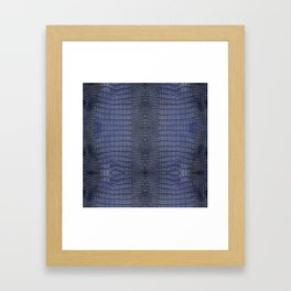 Cobalt Alligator Print Framed Art Print
