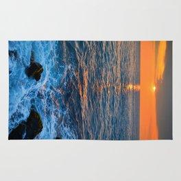 Hawaiian surf and sun Rug