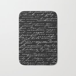 In Black and White Bath Mat