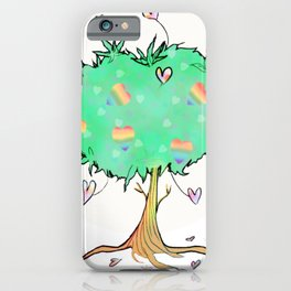 Giving Love Tree -  MisscannibeesTees iPhone Case