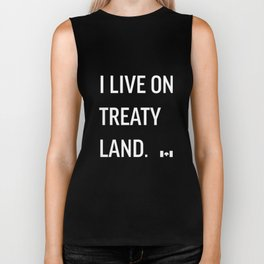 I LIVE ON TREATY LAND Biker Tank