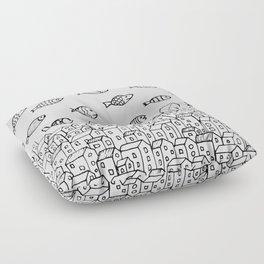 Underwater village Floor Pillow