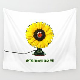 ORGANIC INVENTIONS SERIES: Vintage Flower Desk Fan Wall Tapestry