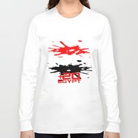 egypt Long Sleeve T-shirts featuring Egypt Code by Maxvtis