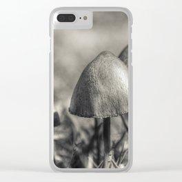 Three mushrooms Clear iPhone Case