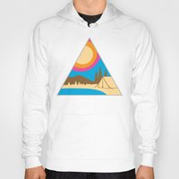 camping Hoodies featuring Camping by Wendy Ding: Illustration
