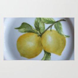 Lemon Botanical Rug