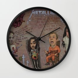 With Hell In My Eyes And With Death In My Veins Wall Clock