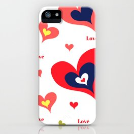 The hearts of Saint Valentines' Day iPhone Case