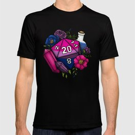 Pride Bisexual D20 Tabletop RPG Gaming Dice T-shirt