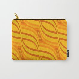 Retro Pattern 3 orange Carry-All Pouch