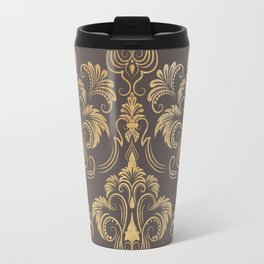 Gold foil swirls damask #10 Travel Mug