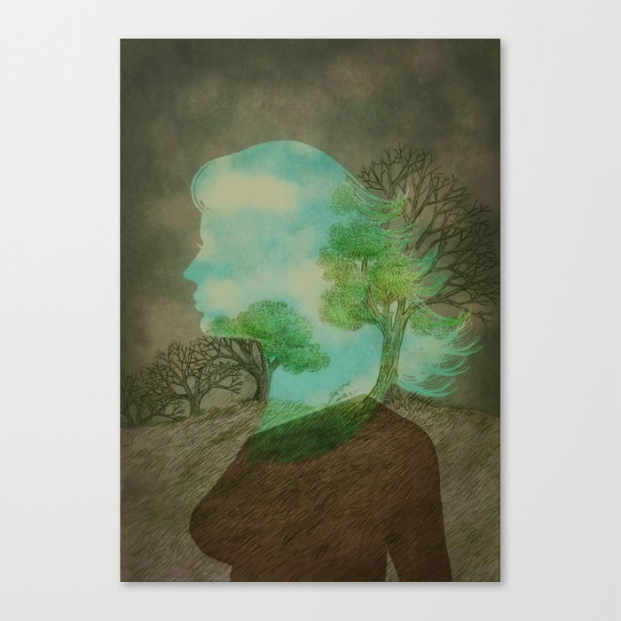 Remember Blue Skies Canvas Print
