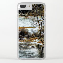 Down By The Waters Edge - Graphic 1 Clear iPhone Case