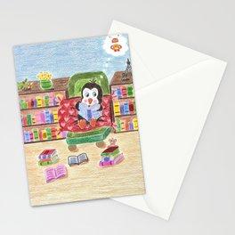 Smart Reading Penguin Stationery Cards