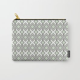 Urban Retro Geometric modern square shapes mid century pattern soft pastel green 02 Carry-All Pouch