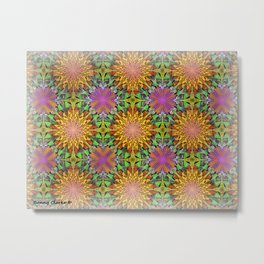 Marigolds and Asters Metal Print