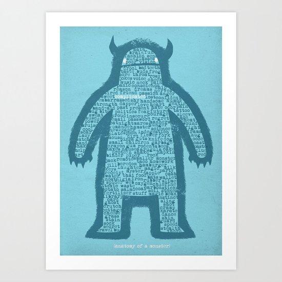 Anatomy of a Monster Art Print