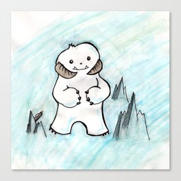 Wampa in Adorable Canvas Print