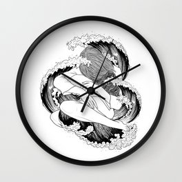 battle of waves. Wall Clock